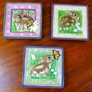 Bunny Decorative Plates, set of 3
